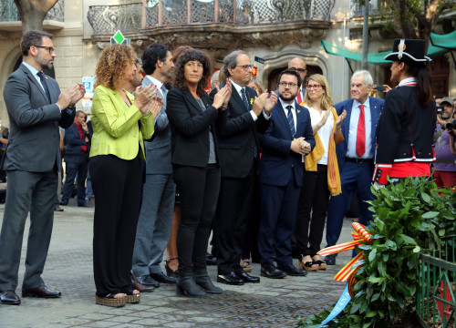 Catalan government pays tribute to Rafael Casanova on September 11, 2018 (by ACN)