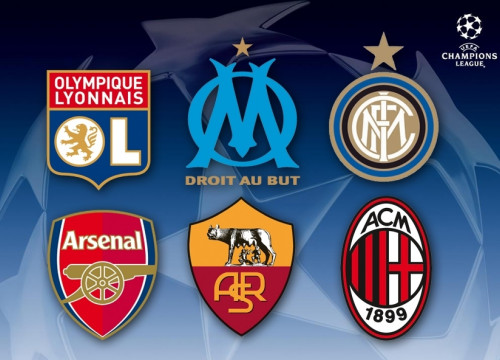 Six possible rivals in Champions League (by FC Barcelona)