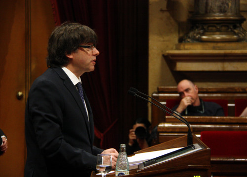 Carles Puigdemont is the Catalan President (by ACN)