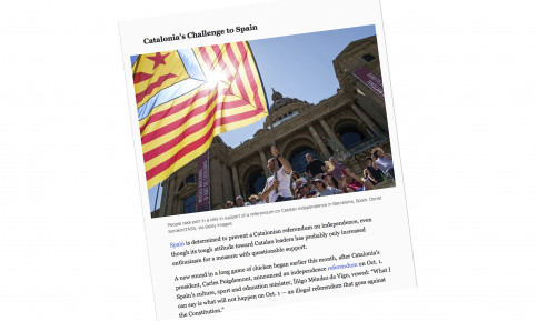 The NYT editorial on Catalonia (by ACN)