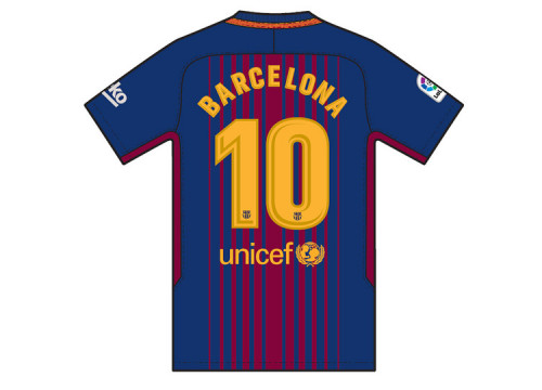 Shirt to be worn on Sunday's game with 'Barcelona' on the back (by FCB)