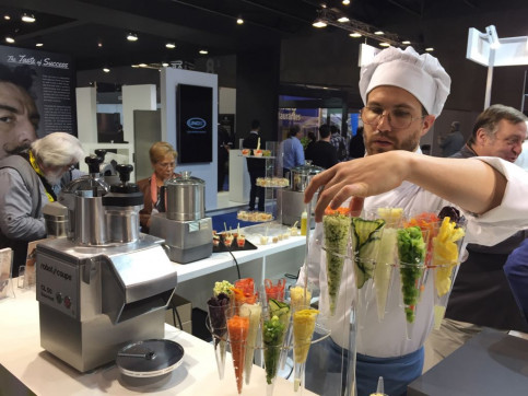 A chef in the Alimentaria fair (by ACN)