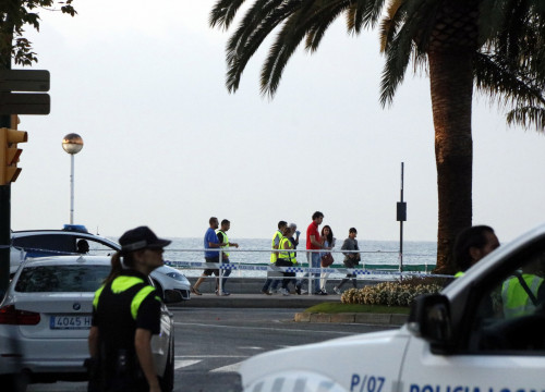 Catalan police in Cambrils (by ACN)