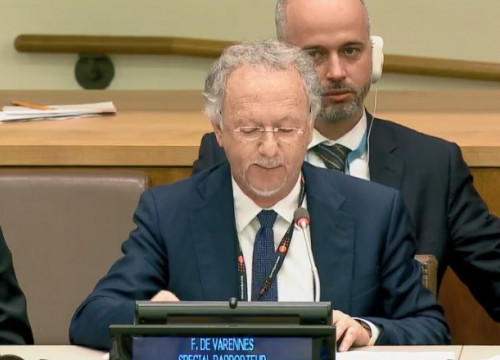 UN Special Rapporteur on Minorities, Fernand de Varennes (by UN)