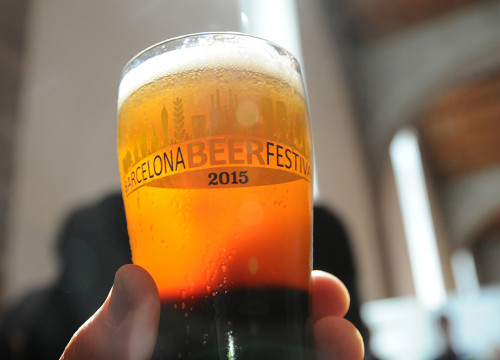 A beer glass at the Barcelona Beer Fest 2015 (by Barcelona Beer Fest)