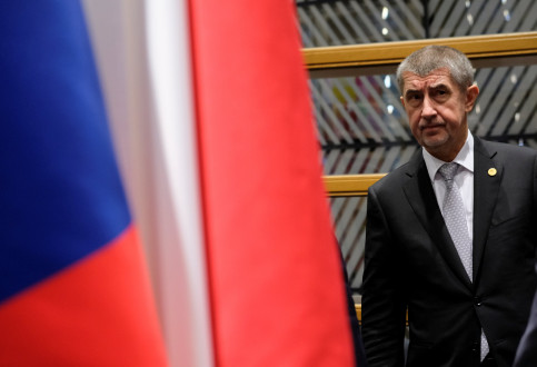 The Czech prime minister, Andrej Babiš, at the Visegrad Group meeting in Brussels, in December 14, 2017 (by Reuters/Olivier Hoslet)