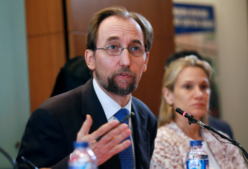 Th UN High Commissoner of Human Rights, Zeid Ra'ad Al Hussein, in February (by Reuters)