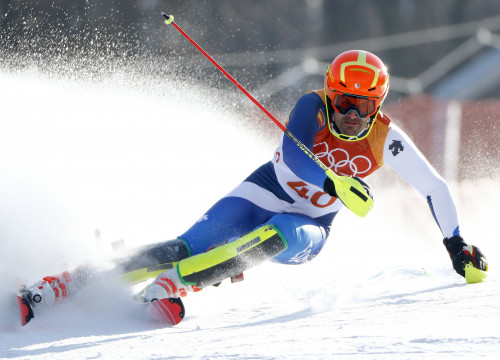 Quim Salarich competing in the Slalom (by Reuters)