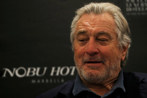 U.S. actor and Nobu co-founder Robert de Niro smiles during a news conference for the inauguration of the new Nobu Hotel in Marbella, southern Spain May 16 (REUTERS)