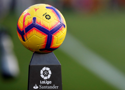 A La Liga football ahead of kickoff. (Photo: Reuters)