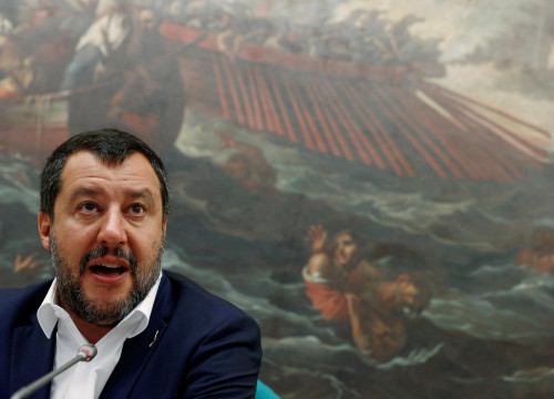 Italian politician Matteo Salvini, leader of the far-right Lega Nord party. (Photo: REUTERS)