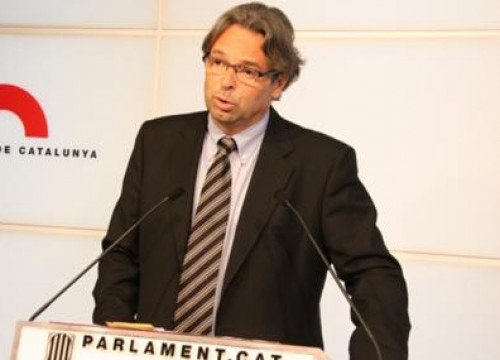 Ernest Benach, president of the Catalan Parliament at the press conference