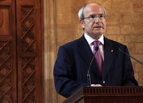 Catalan President, José Montilla in the institutional speech reacting to the sentence and delivered this evening
