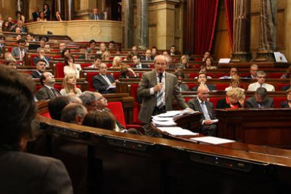 Catalan Parliament today, during the Government's control session