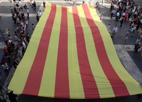 The Catalan flag that will be used in tomorrow's demonstration