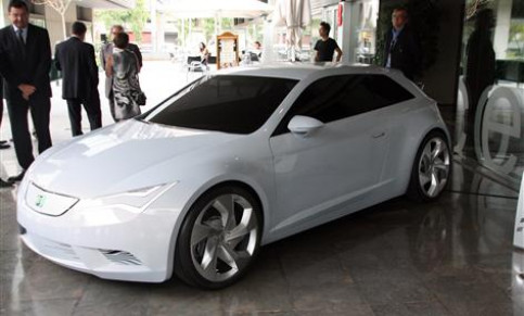 A prototype of electric car developed by SEAT