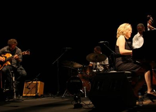 Diana Krall, during the concert