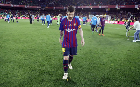 Leo Messi after FC Barcelona defeat in Copa del Rey final on May 25, 2019 (by Miguel Ruiz/FCB)