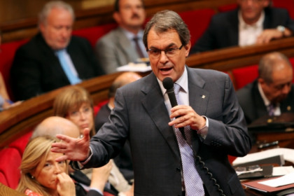 Catalan President Artur Mas, in Parliament (by ACN)