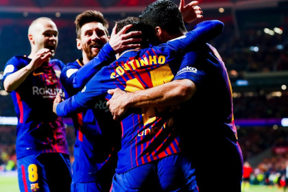 Barça made history with a 0-5 victory and a fourth Copa del Rey trophy in a row (by Miguel Ruiz)