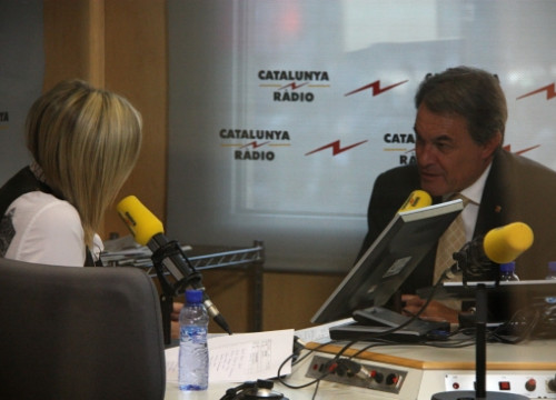 Catalan president Artur Mas during his interview with the Catalan public radio (by ACN)