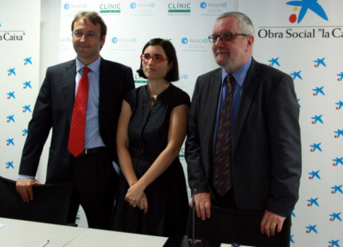 The presentation of the study developed by Barcelona Hospital Clínic and funded by La Caixa (by L. Roma)
