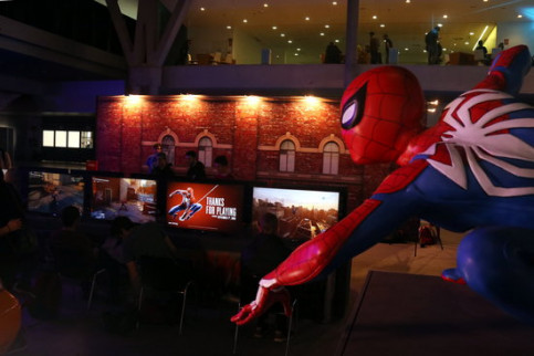 A Spiderman figure at the Barcelona Games World Fair on November 29 2018 (by Pere Francesch)