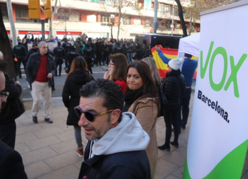A Vox sign at a protest on January 27 2019 (by Miquel Codolar)
