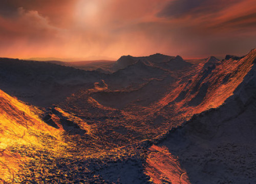 A rendition of what the cold 'super-earth' orbiting Barnard's star might look like (November 14 2018, courtesy of ESO - M. Kornmesser)