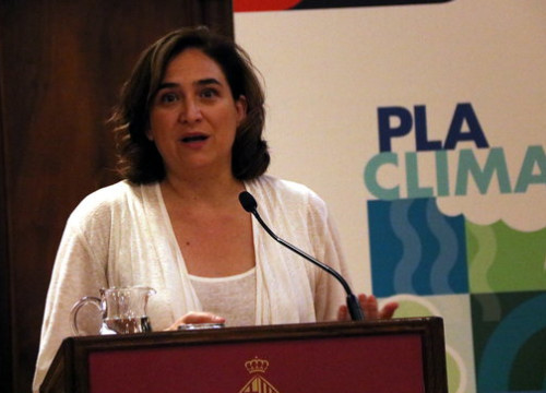 Barcelona mayor Ada Colau at the Climate Emergency Committee's inaugural meeting on July 10, 2019 (by Nazaret Romero)