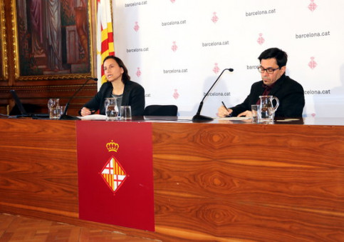 Barcelona officials present results of the 'Barcelona in the eyes of the World' survey on January 15 2019 (by Nazaret Romero)