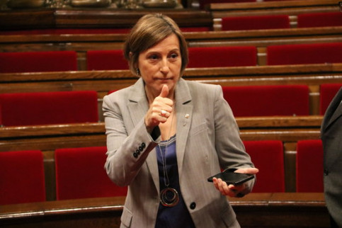 The President of the Catalan Parliament, Carme Forcadell, on the 30th of November 2016 (by ACN)