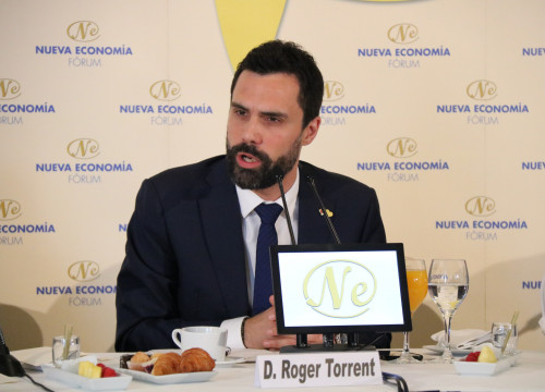 Catalan Parliament president Roger Torrent on July 4, 2019 (Roger Pi de Cabanyes/ACN)