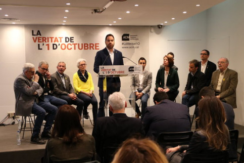 Catalan mayors at the October 1 act in Madrid on March 3 2019 (by Andrea Zamorano)