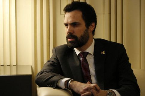 Catalan parliament president Roger Torrent on January 4 2018 (by Guillem Roset)