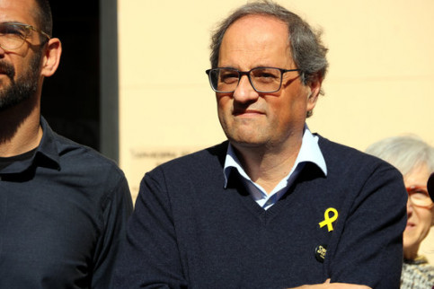 Catalan president Quim Torra during an act in Sabadell on February 17 2019 (by Estefania Escolà)