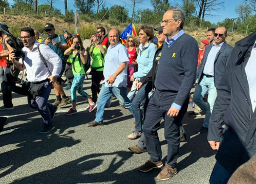 Catalan president Quim Torra takes part in a 'March for Freedom' against the Supreme Court's verdict (by Jack Gou)