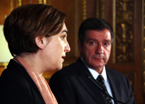 Barcelona's Mayor, Ada Colau and Athen's Mayor, Giorgos Kaminis (by ACN)