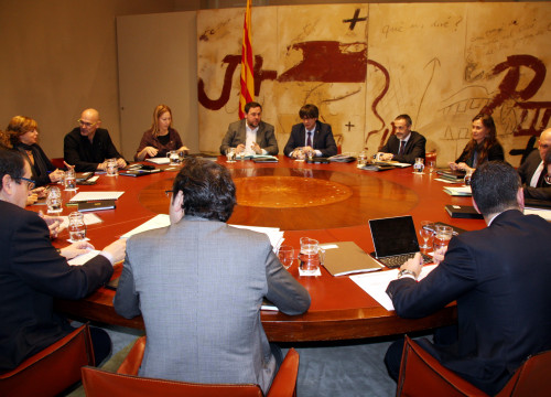 Catalan Exeuctive's meeting this Tuesday (by ACN)