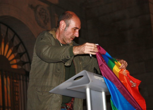 Eugeni Rodríguez, head of the Observatory Against Homophobia at an event in February 2019 (Sílvia Junyent/ACN)