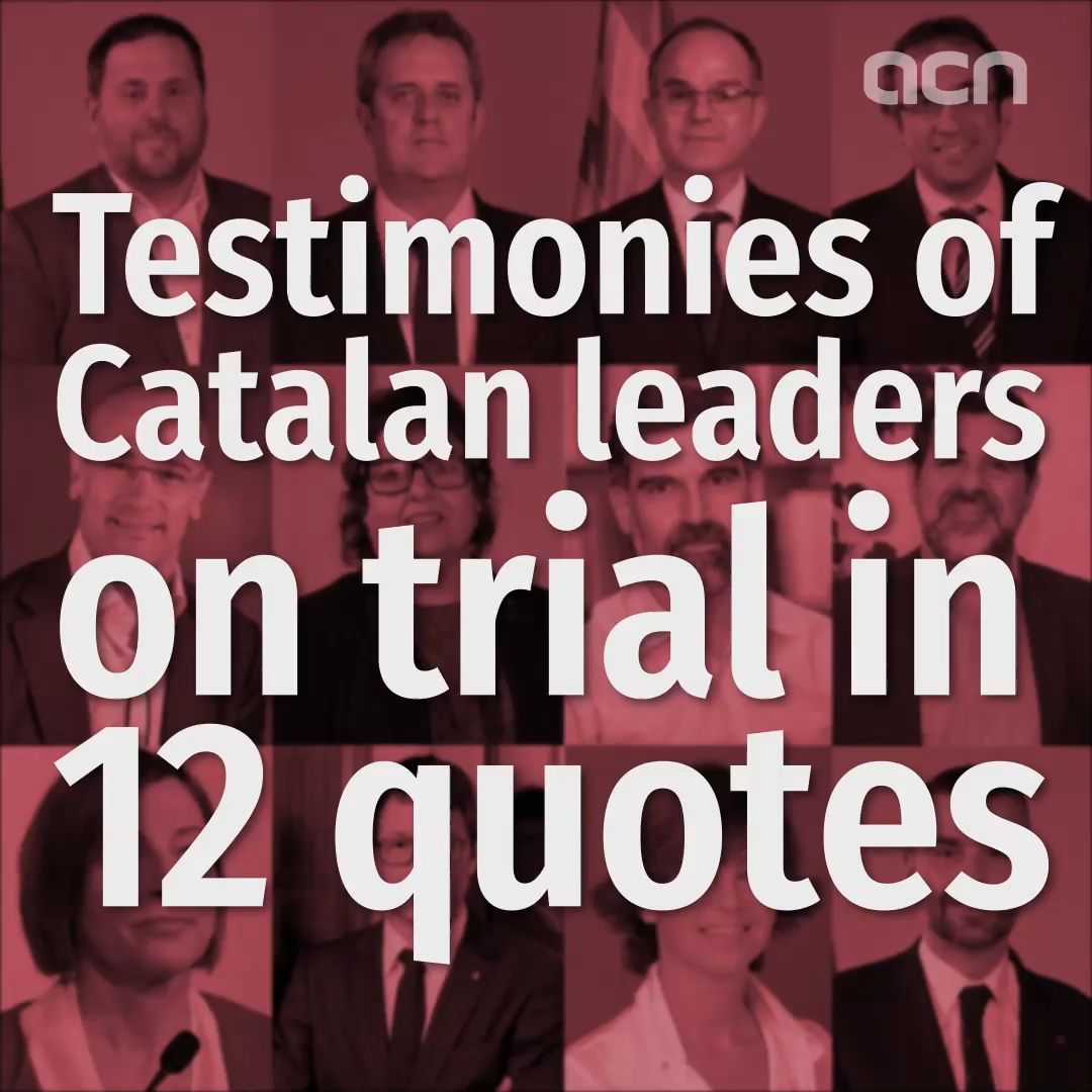 Testimonies of Catalan leaders on trial in 12 quotes