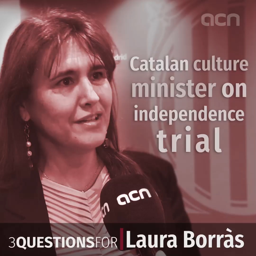 Three questions for Culture minister Laura Borràs