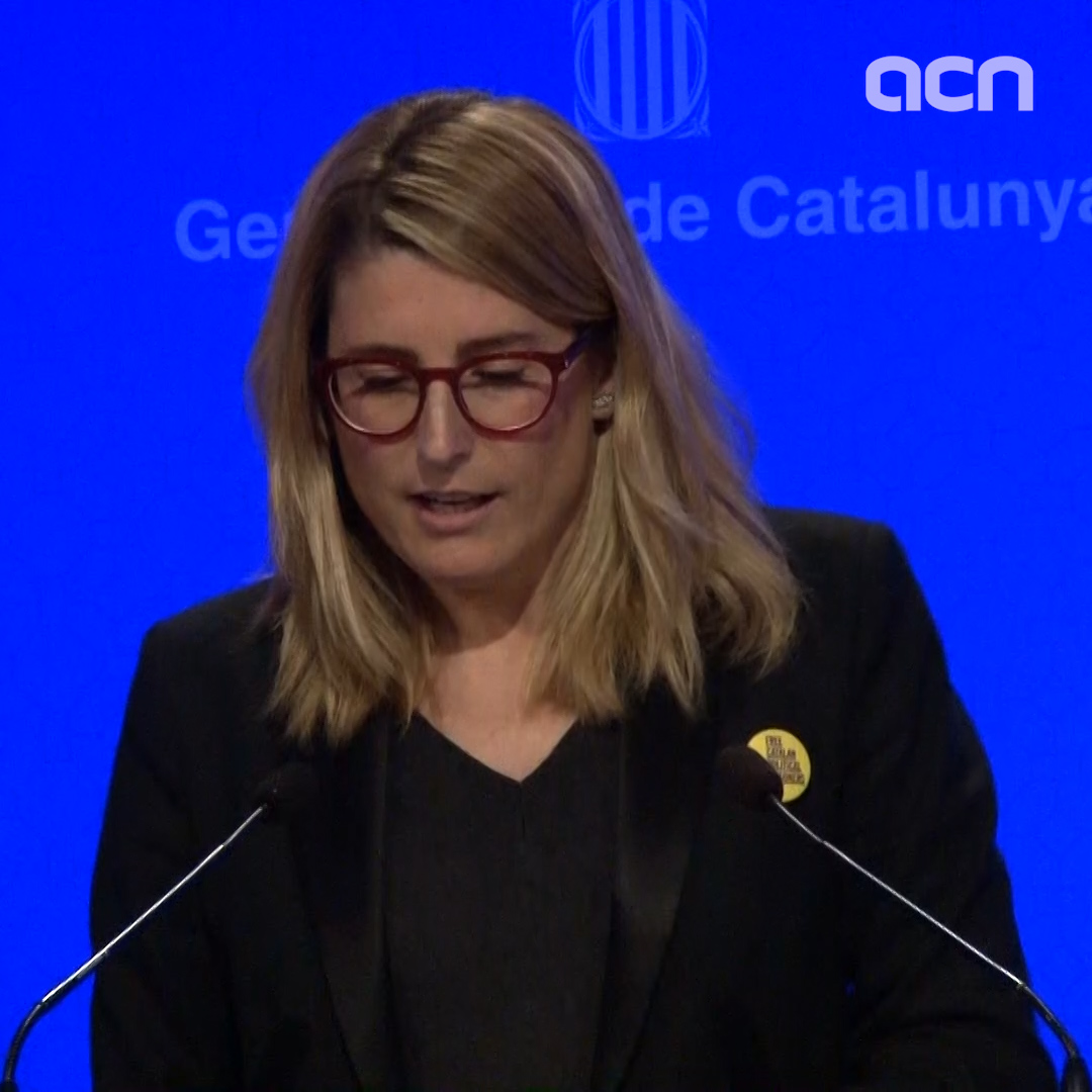 Catalan government spokesperson explains what laws the executive aims to recover