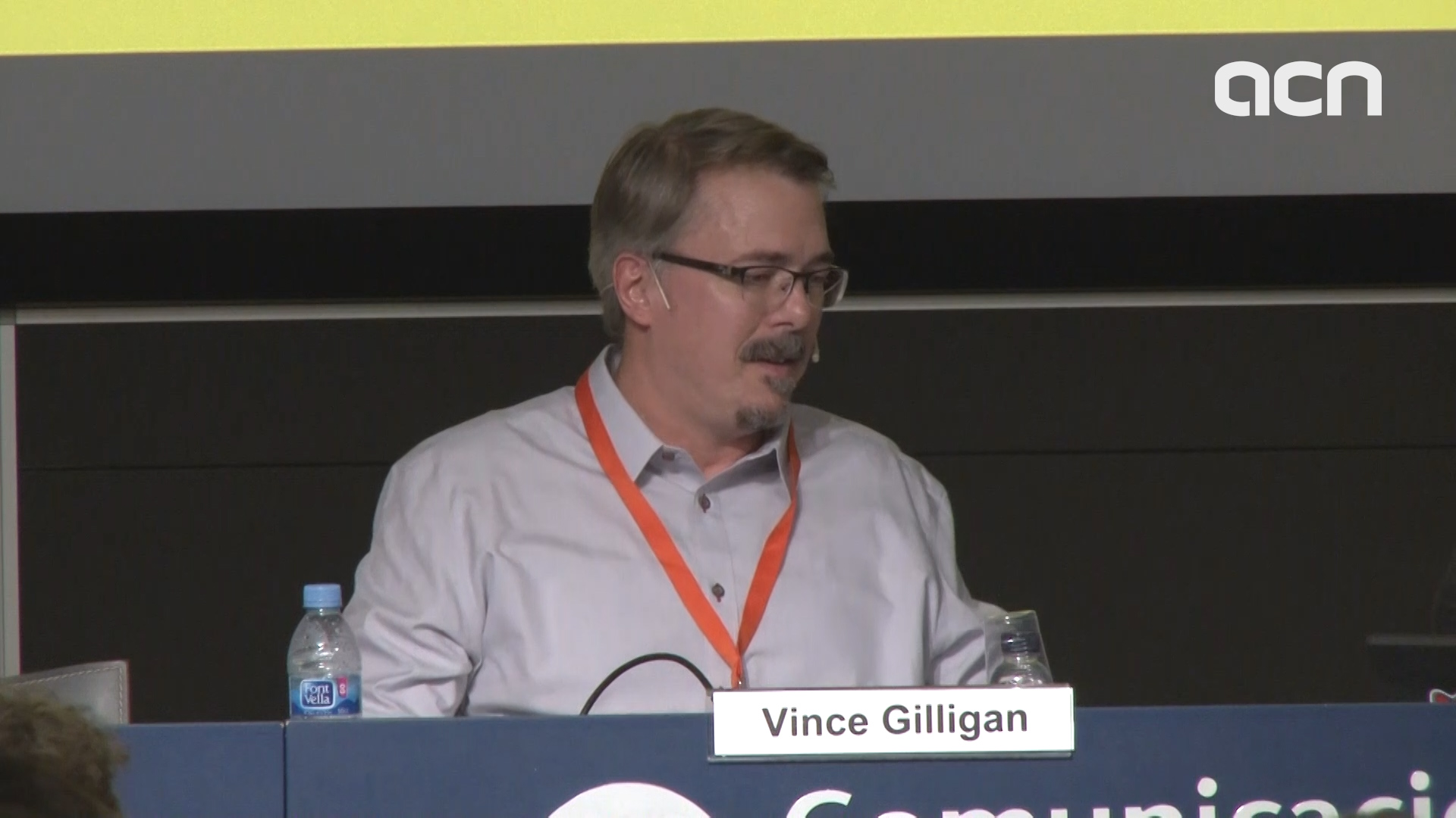 Writer and producer Vince Gilligan spoke during the Serielizados Festival