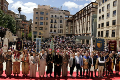 Colorful activity at the Festival of Moors and Christians in Lleida