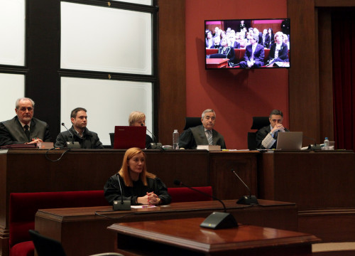 Representatives of the Public Prosecutor's office and the popular accusation during 9-N trial (by ACN)