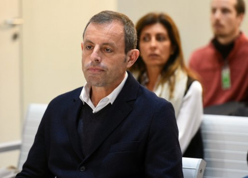 Former FC Barcelona president Sandro Rosell in court on February 25 2019 (image courtesy of Pool EFE)