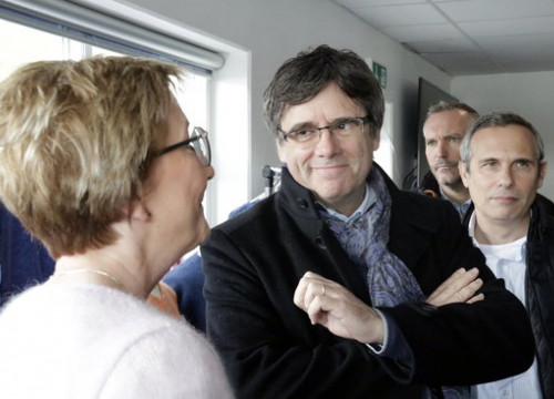 Former president Carles Puigdemont on a visit to the Feroe Islands on October 13 2018 (by Marina López)