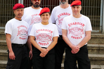 The Guardian Angels have been spotted in various areas of Barcelona (by Mike Henstridge)
