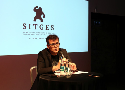 Head of Sitges Film Festival, Àngel Sala, at a press conference on July 17, 2019 (Pere Francesch/ACN)